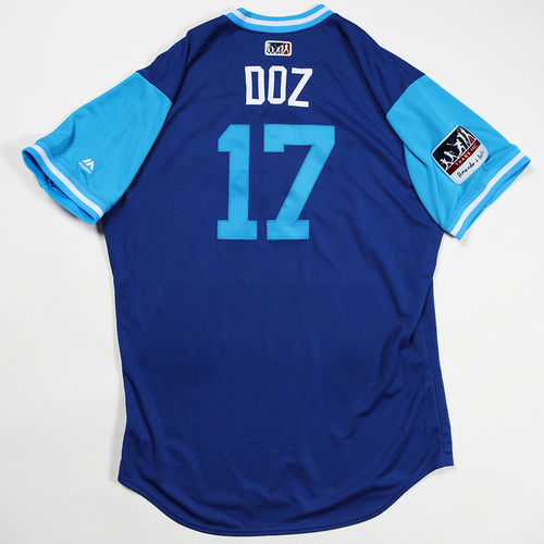 """Photo of Hunter """"Doz"""" Dozier Kansas City Royals Game-Used Jersey 2018 Players' Weekend Jersey"""