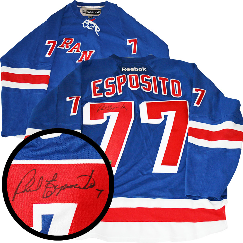 Phil Esposito Signed Jersey Rangers Replica Blue 2016-2017 Reebok