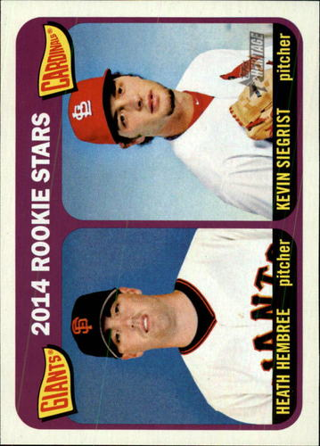 Photo of 2014 Topps Heritage #282 Kevin Siegrist (RC)/Heath Hembree RC