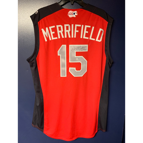 Whit Merrifield 2019 Major League Baseball Workout Day Autographed Jersey