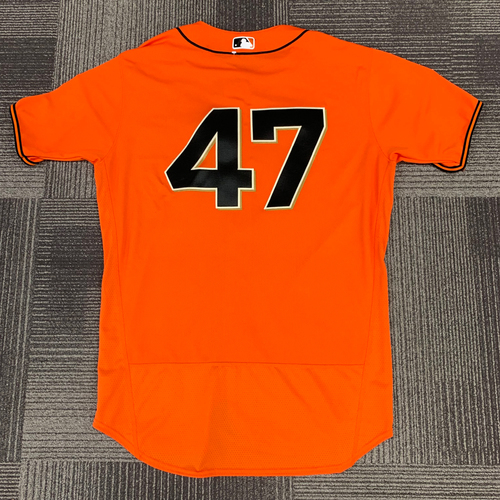 Photo of 2018 Team Issued Orange Home Alt Jersey - #47 Johnny Cueto - Size 48