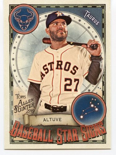 Photo of 2019 Topps Allen and Ginter Baseball Star Signs #BSS11 Jose Altuve