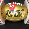 NFL 100 - Jim Brown Signed Commemorative Gold NFL 100th Season Football