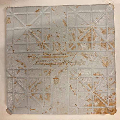 Photo of 2019 NLDS Game Used Base - Second Base Used During 8th and 9th Inning - 10/4/19