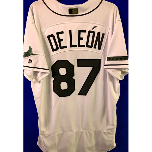 Photo of Team Issued Home White Memorial Day Jersey: Jose De Leon
