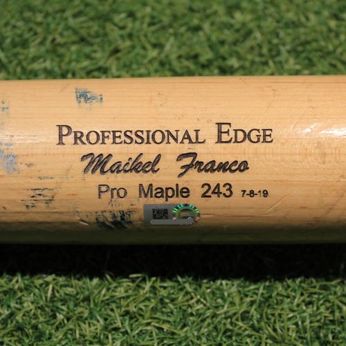 Team-Issued Broken Bat: Maikel Franco #7