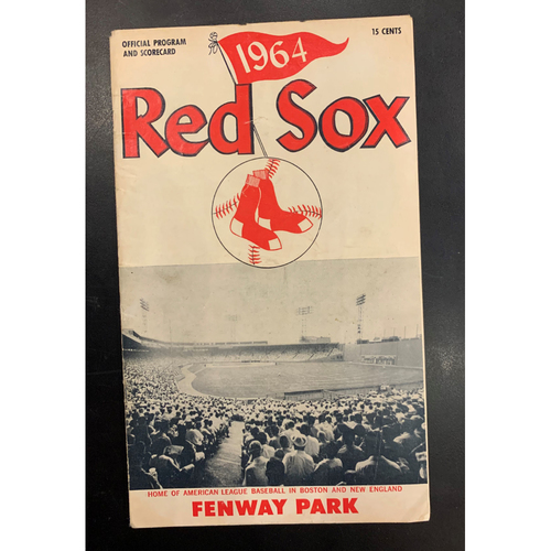 Photo of 1964 Red Sox Official Program and Scorecard