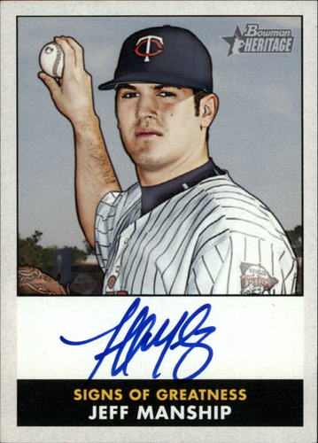 Photo of 2007 Bowman Heritage Signs of Greatness #JM Jeff Manship F