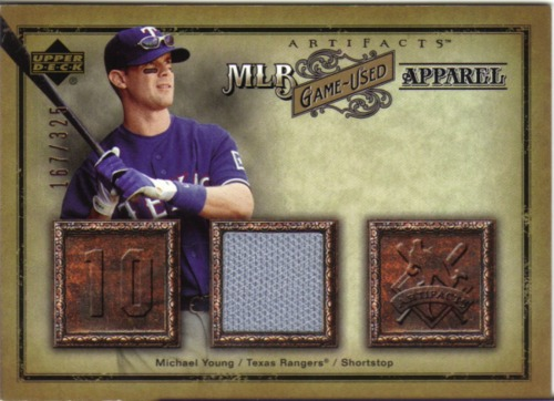 Photo of 2006 Artifacts MLB Game-Used Apparel #MY Michael Young Jsy/325