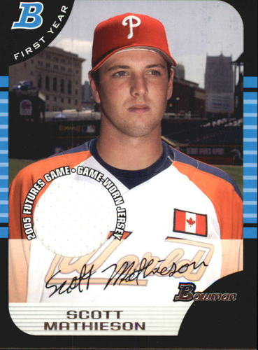 Photo of 2005 Bowman Draft Futures Game Jersey Relics #126 Scott Mathieson
