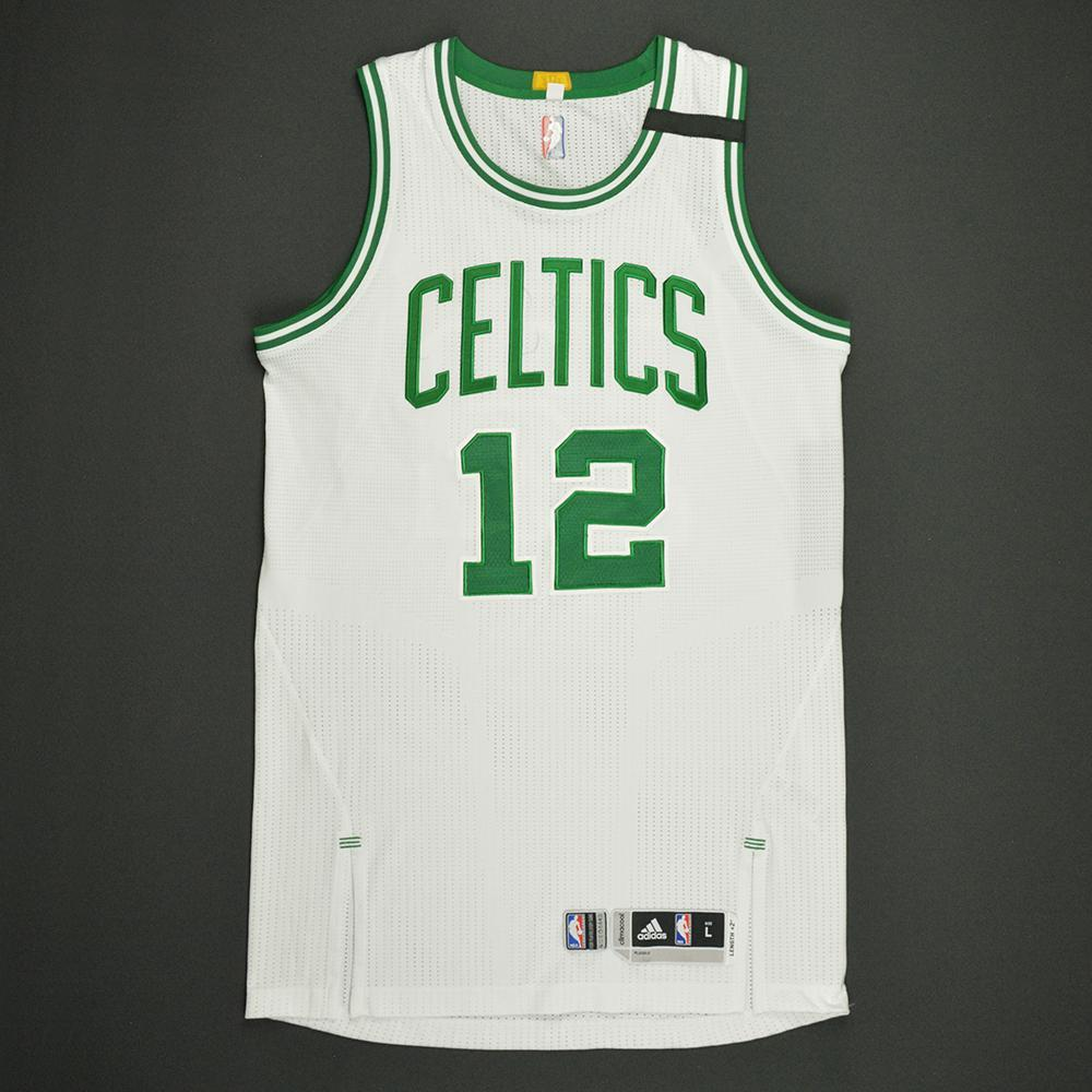Terry Rozier - Boston Celtics - White Playoffs Game-Worn Jersey - Dressed, Did Not Play - 2016-17 Season