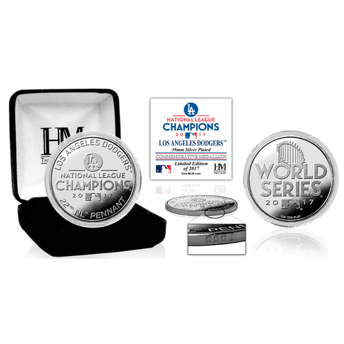 Photo of Los Angeles Dodgers 2017 NL Champions Silver Mint Coin