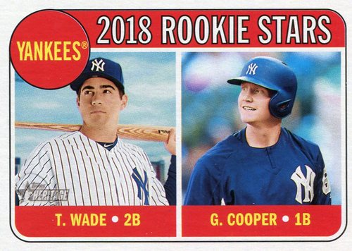 Photo of 2018 Topps Heritage #321 Tyler Wade RC/Garrett Cooper RC