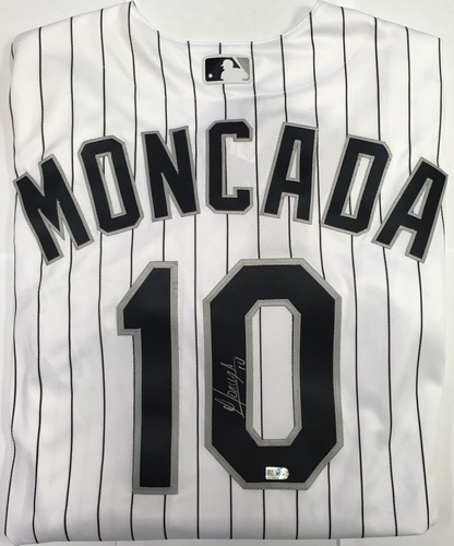 Photo of Yoan Moncada Autographed Authentic White Sox Jersey