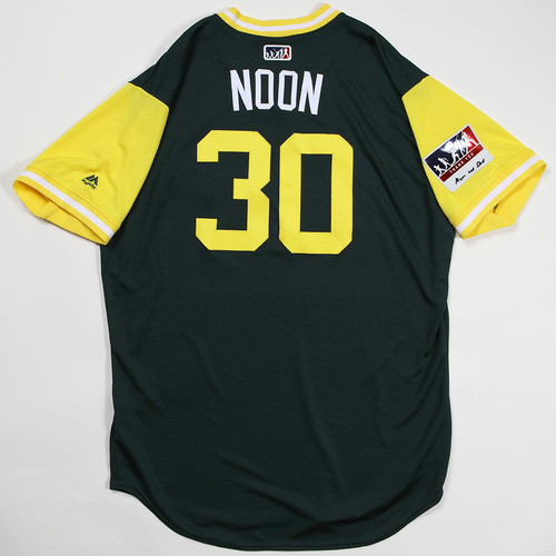 "Photo of Brett ""Noon"" Anderson Oakland Athletics Game-Used Jersey 2018 Players' Weekend Jersey"
