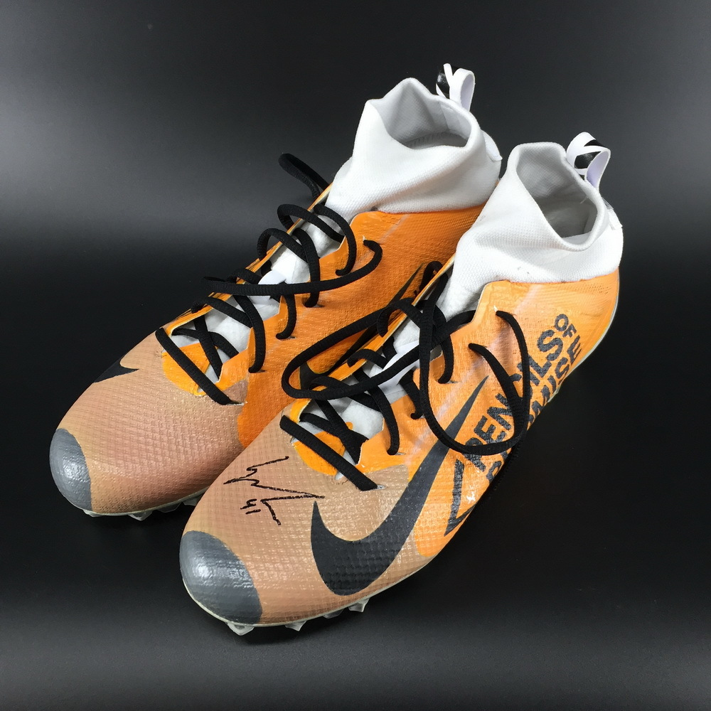 My Cause My Cleats - Broncos Isaac Yiadom Signed Game Used Cleats
