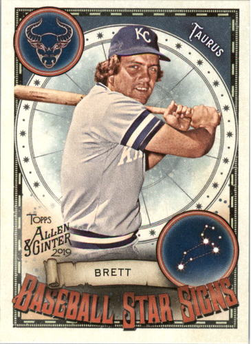 Photo of 2019 Topps Allen and Ginter Baseball Star Signs #BSS14 George Brett