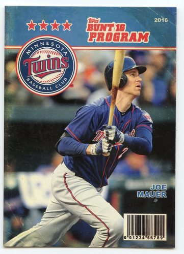 Photo of 2016 Topps Bunt Programs #P25 Joe Mauer