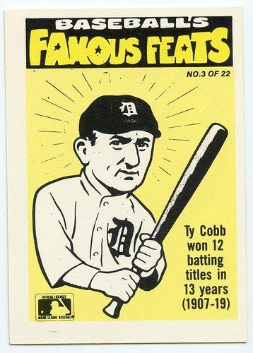 Photo of 1986 Fleer Team Stickers #3C Yankees/Ty Cobb