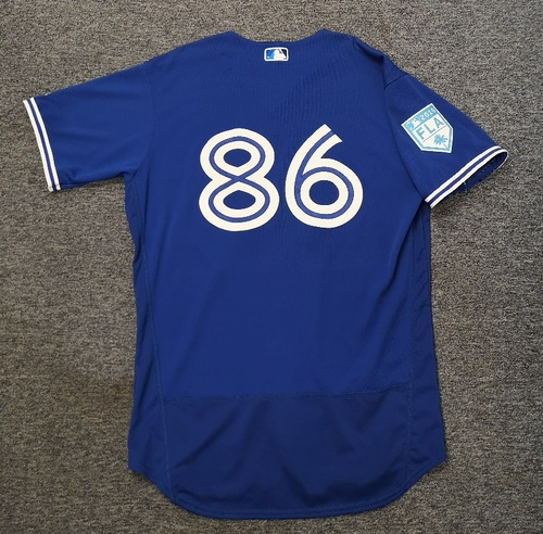 Photo of Authenticated Team Issued 2019 Spring Training Jersey - #86 Cal Stevenson. Size 46