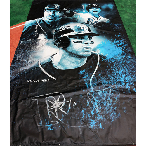 Photo of Tampa Bay Rays Banner: B.J. Upton, Ben Zobrist and Carlos Pena - Local Pick-Up Only