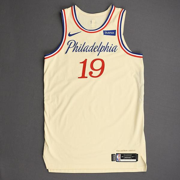 Image of Raul Neto - Philadelphia 76ers - Christmas Day' 19 - Game-Worn City Edition Jersey - Dressed, Did Not Play