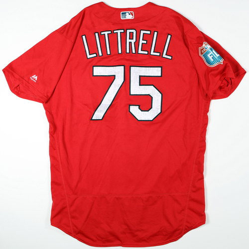 2016 Spring Training - Spring Training Game Used Jersey - Corey Littrell (Cardinals)- Size- 48