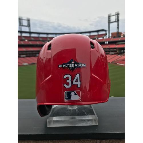 Photo of Cardinals Authentics: Yairo Munoz Game Worn Home Red Helmet