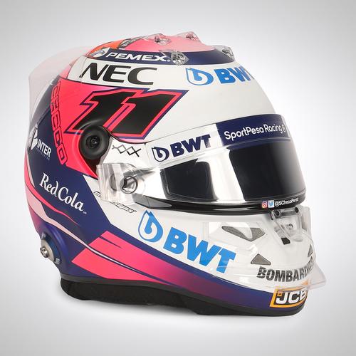 Photo of Sergio Perez 2019 Bahrain Race-used Helmet