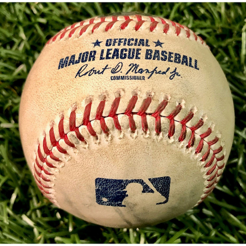 Photo of Game Used Baseball: Diego Castillo strikes out Pat Valaika - First Save of 2020 (S, 1.0IP, 2 SO) - August 26, 2020 v BAL