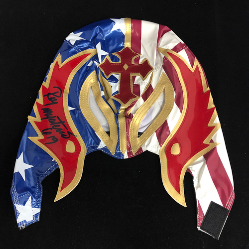 Photo of Rey Mysterio SIGNED replica mask