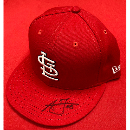 Photo of Austin Gomber Autographed Game Used 1968 50th Anniversary Cap (9/8/18, STL @ DET) (Size 7 1/2)