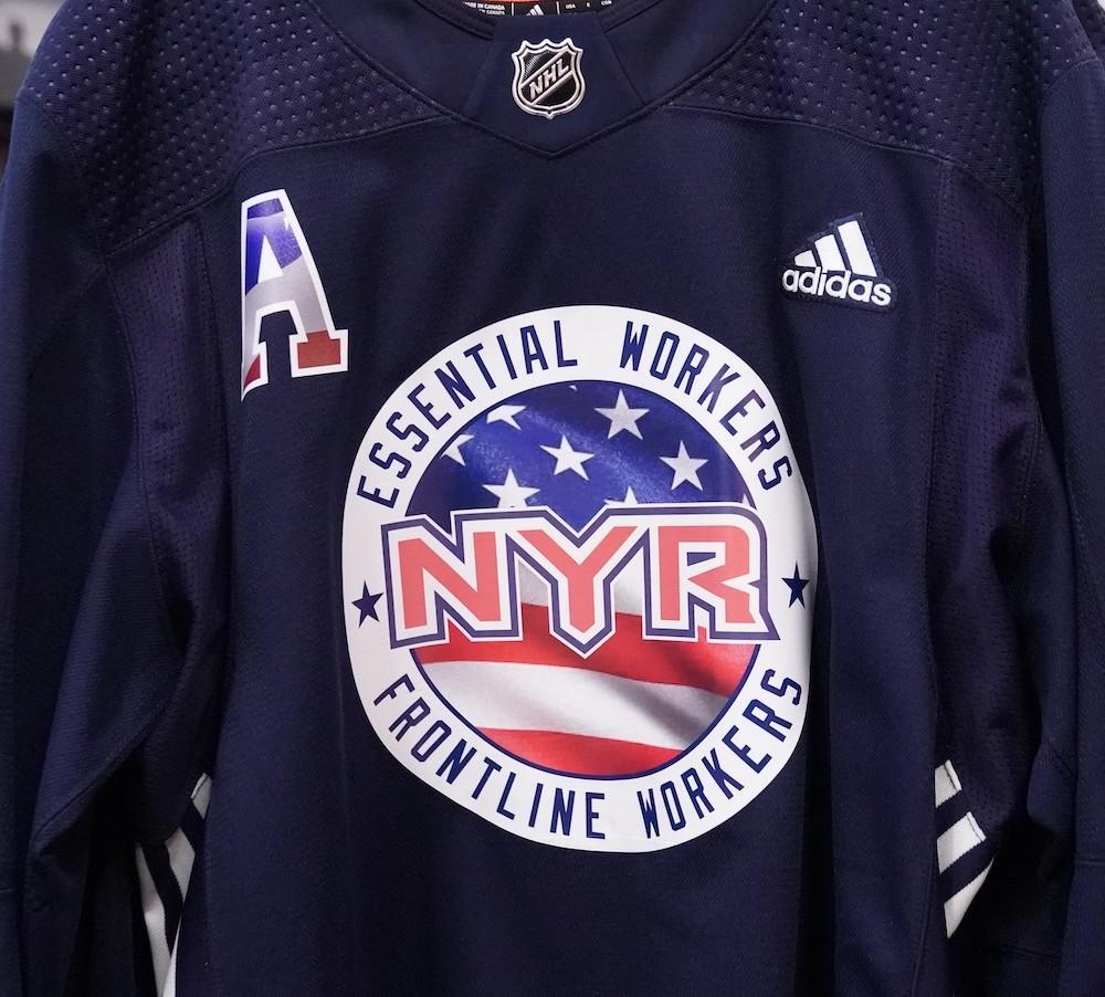 Autographed Essential Workers Night Warm-Up Jersey: #20 Chris Kreider - New York Rangers