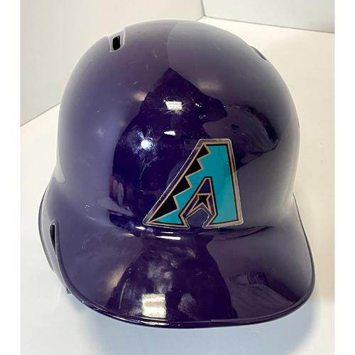 Photo of 2019 Team Issued #22 D-backs Purple Throwback Helmet