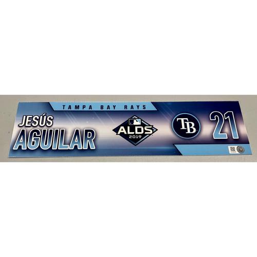 Team Issued ALDS Locker Tag: Jesus Aguilar - 3 Games - October 4, 5, 10, 2019 at HOU