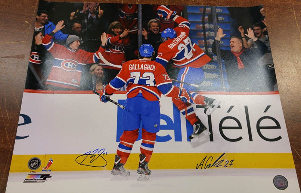 Alex Galchenyuk & Brendan Gallagher Dual Signed Montreal Canadiens 16x20 Photo