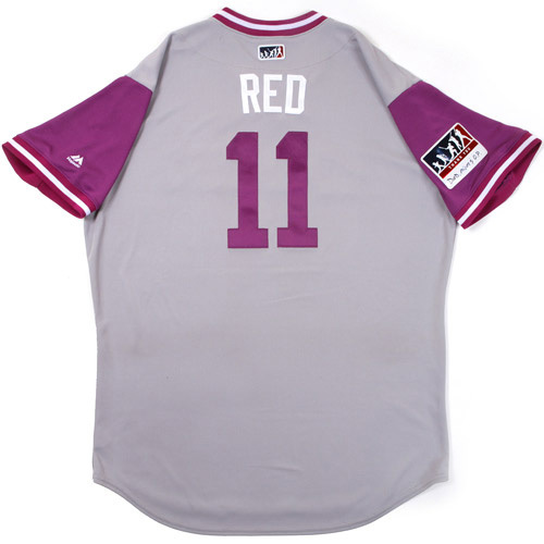 "Photo of Mike ""Red"" Redmond Colorado Rockies Game-Used Players Weekend Jersey"