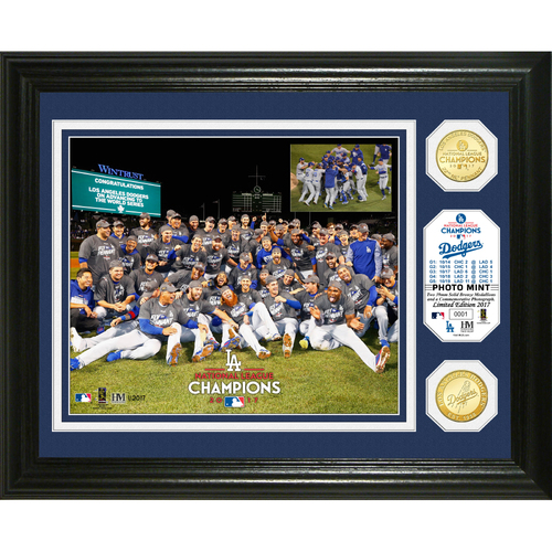 Photo of Los Angeles Dodgers 2017 NL Champions Celebration Bronze Coin Photo Mint