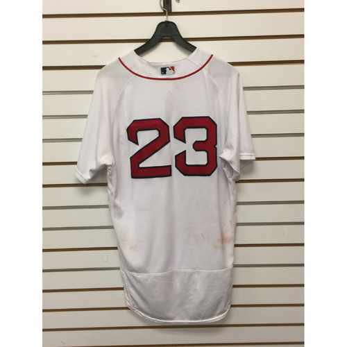 Photo of Blake Swihart Game-Used June 4, 2016 Home Jersey