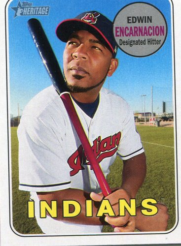 Photo of 2018 Topps Heritage #325 Edwin Encarnacion