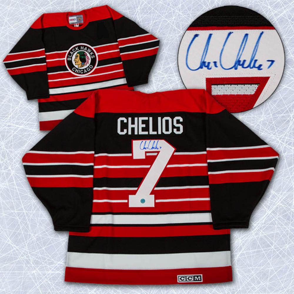 CHRIS CHELIOS Autographed Chicago Blackhawks 1992 Retro CCM Jersey *Size XXL*