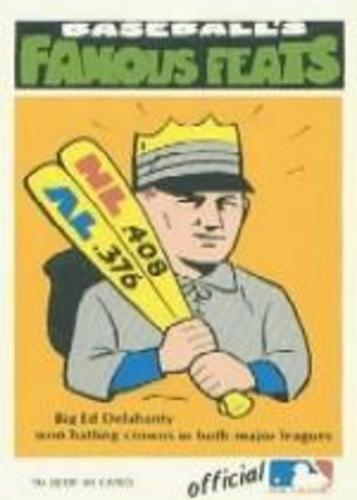 Photo of 1972 Fleer Famous Feats #38 Ed Delahanty -- Hall of Fame Class of 1945