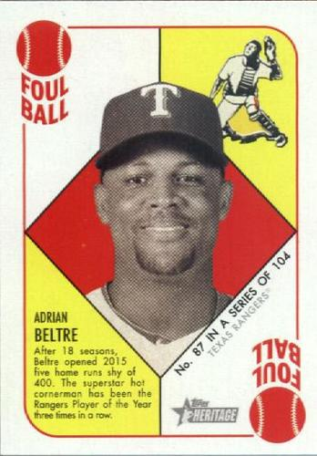 Photo of 2015 Topps Heritage '51 Collection #87 Adrian Beltre