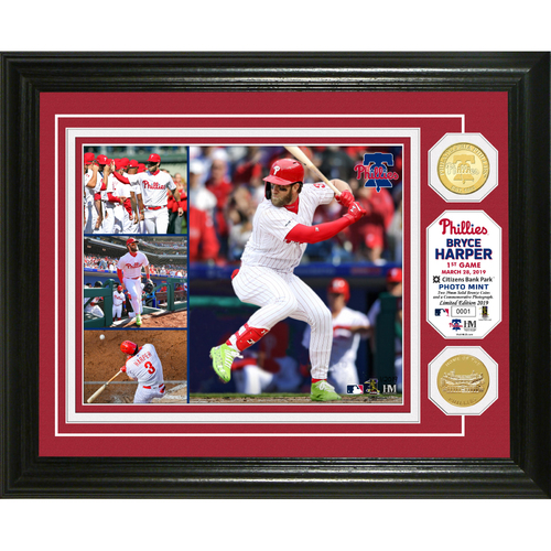 "Photo of Bryce Harper ""Phillies Opening Day"" Bronze Coin Photo Mint"