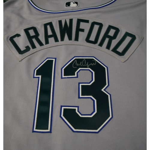 Photo of Rays Baseball Foundation Auction: Carl Crawford Autographed Devil Rays Jersey - Size 48