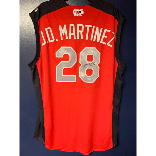 Photo of J.D. Martinez 2019 Major League Baseball Workout Day Autographed Jersey