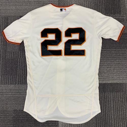 Photo of 2018 Game Used Home Jersey worn by #22 Andrew McCutchen for 1500th Hit and 2 Home Runs