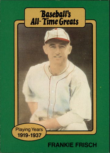Photo of 1987 Hygrade All-Time Greats #36 Frankie Frisch