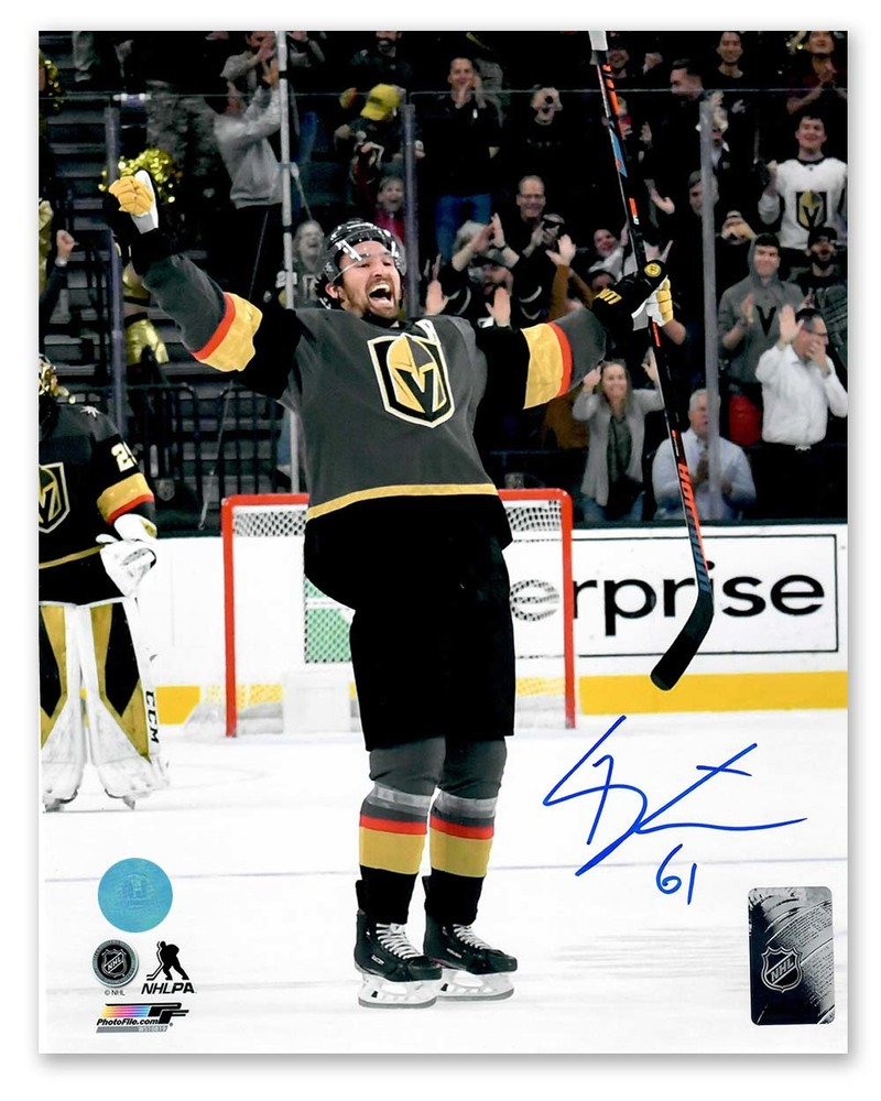 Mark Stone Vegas Golden Knights Autographed Goal Celebration 8x10 Photo