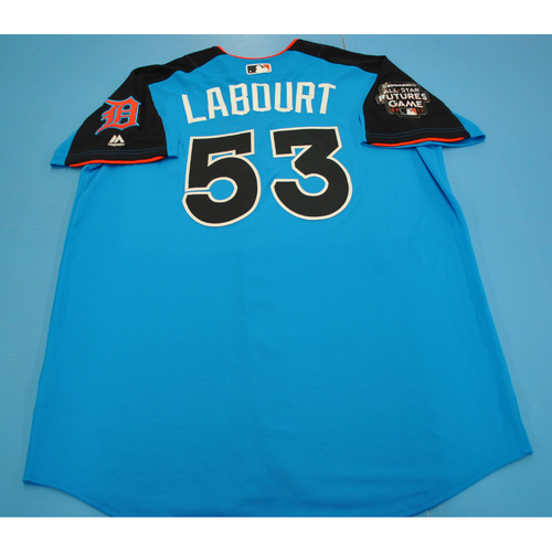 Photo of Game-Used Batting Practice Jersey - 2017 All-Star Futures Game - Jairo Labourt - Size 48 - Only Worn During Batting Practice
